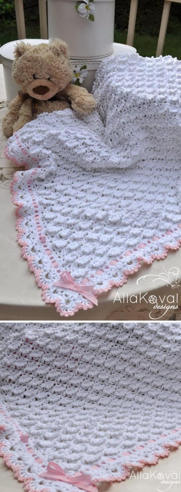 32 Elegant Crochet Baby Blanket Free Pattern Crochetnstyle Com