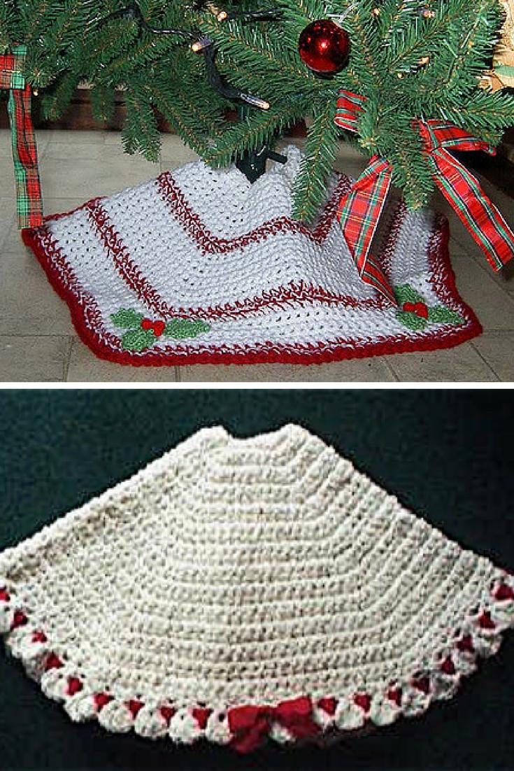 34 Brilliant Crochet Tree Skirt Pattern Crochetnstyle Com